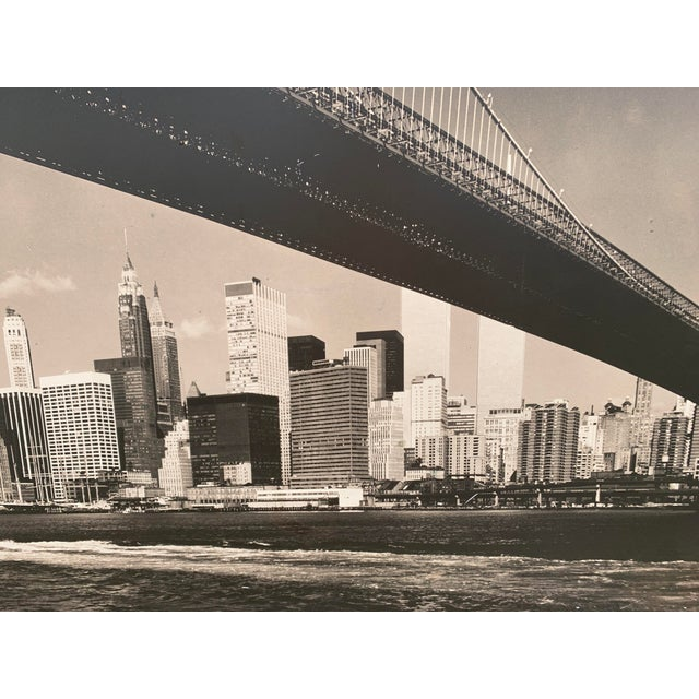 Black 1970s Lower Manhattan Cityscape Photograph, Framed For Sale - Image 8 of 11