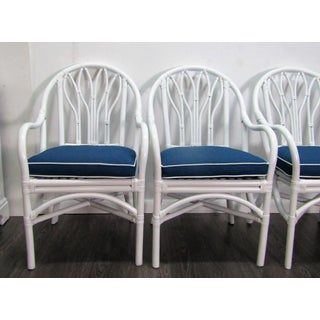 Vintage Mid Century McGuire Bamboo Dining Arm Chairs- Set of 4 Preview
