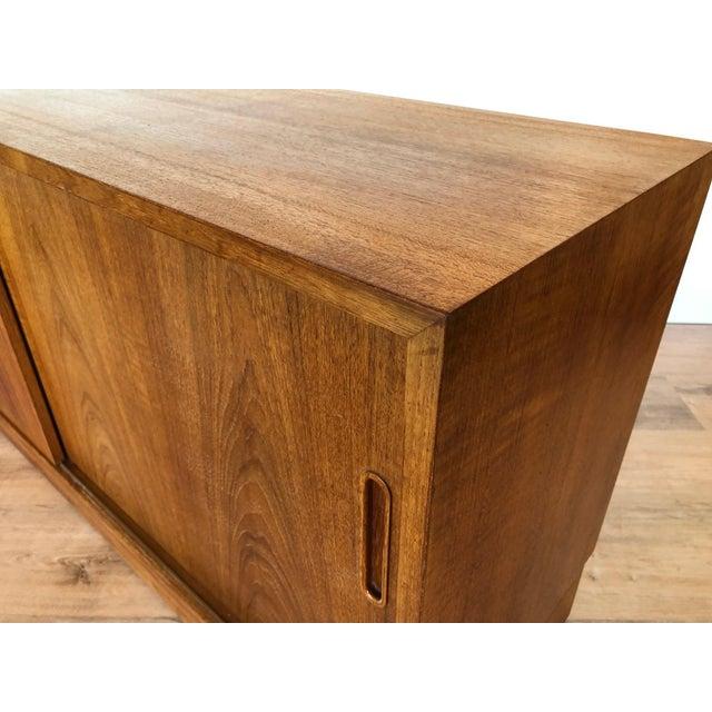 Poul Hundevad Vamdrup 1960s Paol Hundevad Restored Compact Teak Credenza For Sale - Image 4 of 12