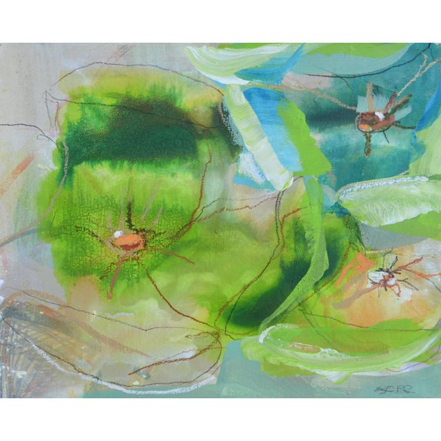 'Green 2' Contemporary Painted Drawing - Image 2 of 2