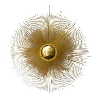 Brass Sunburst Wall Sculpture