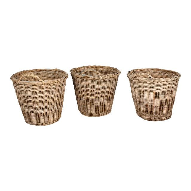 1940s Dutch Tulip Baskets - Set of 3 For Sale