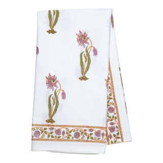 Florence Tablecloth, 4-seat table - Lilac & Green For Sale