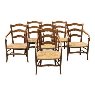 1980s Charles X Style Armchairs - Set of 6 For Sale