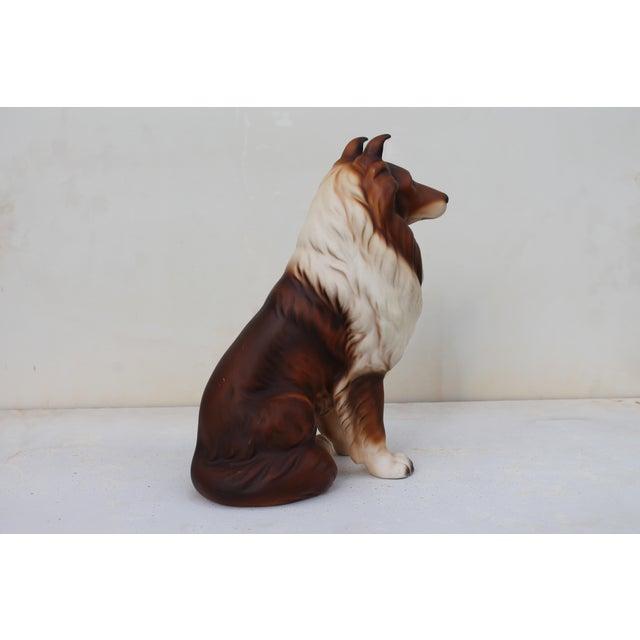 Brown Mid-Century Glazed Ceramic Dog Sculpture For Sale - Image 8 of 12