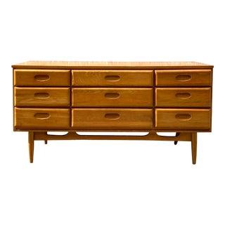 Midcentury Lowboy 9 Drawer Dresser For Sale