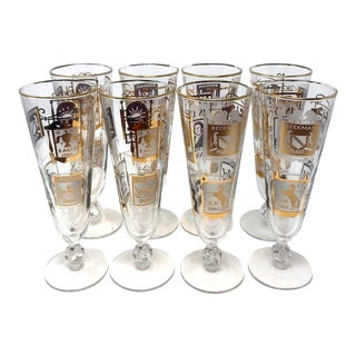 Vintage Beer Pub Glasses - Set of 8 For Sale
