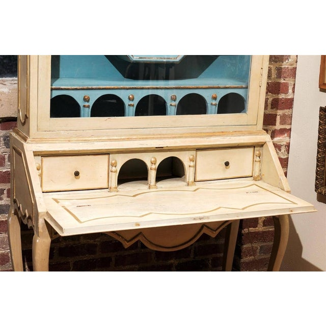 Italian Painted Secretary and Display Cabinet - Image 6 of 6