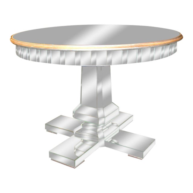 Custom Mirrored Center Hall Table For Sale