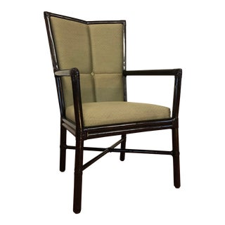 McGuire Cambria Arm Chair Designed by Orlando Diaz Azcuy For Sale