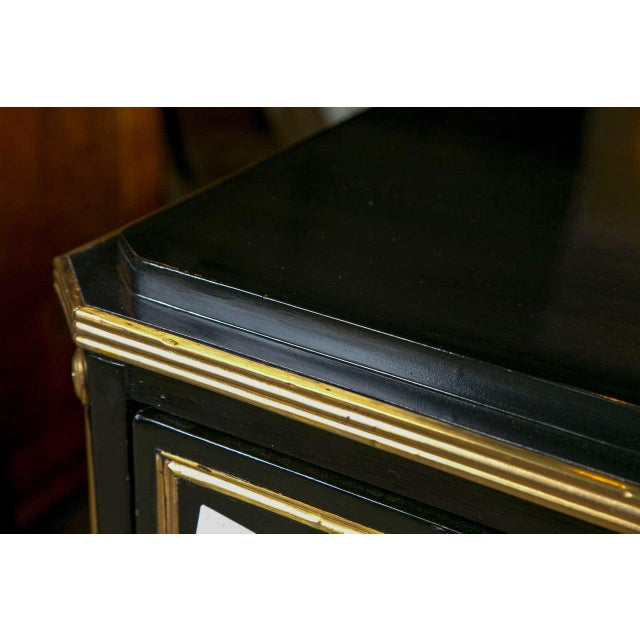 Wood Russian Neoclassical Style Ebonized Commode / Chest of Drawers / Cabinet 19th C. For Sale - Image 7 of 8