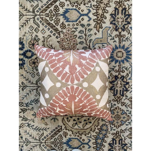 Beautiful hand-dyed block print pillows on linen. Design is inspired by ancient Italian works of art, particularly those...