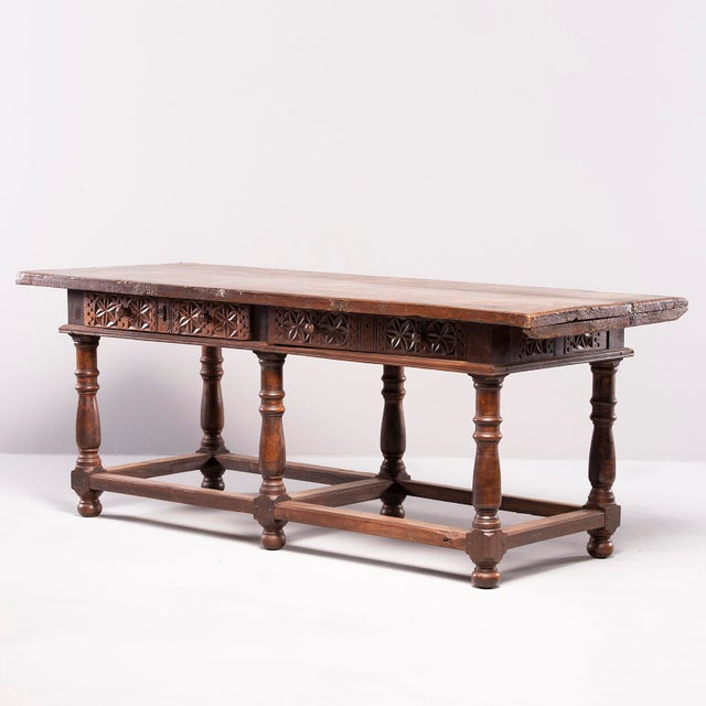Portuguese All Original 18th Century Carved Walnut Table For Sale - Image 13 of 13