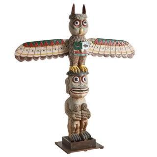 Six-Foot Winged Totem Pole W/ Shame Motif Circa 1960s