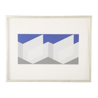 Joseph Albers Silkscreen Print For Sale