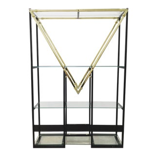 "Mid-Century Modern Style Geometric ""m"" Etagere For Sale"