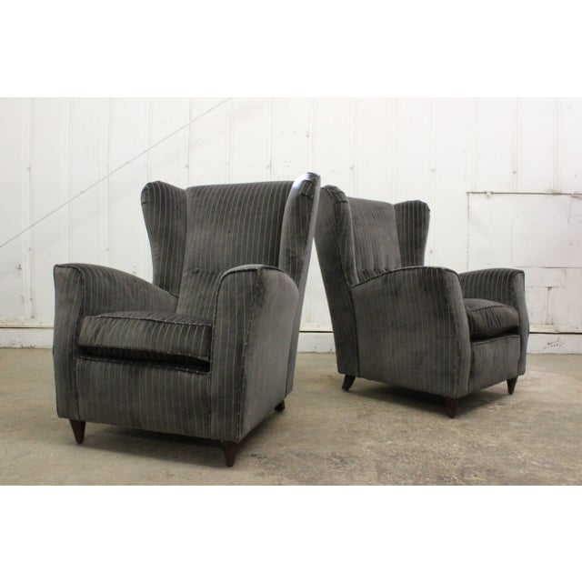 Mid-Century Modern Pair of Armchairs by Paolo Buffa, Italy, 1950s For Sale - Image 3 of 11