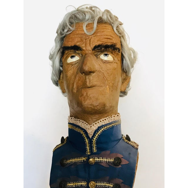 Late 19th Century Traditional Papier Mache Bust For Sale - Image 5 of 6