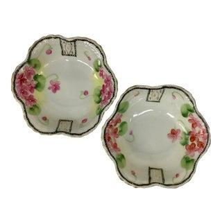 Vintage Porcelain Trinket Dishes - a Pair For Sale