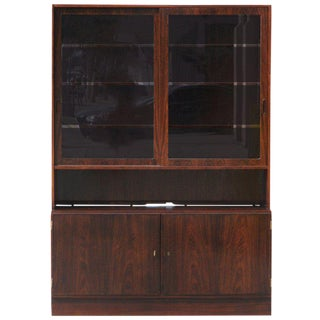 Danish Teak Buffet with Hutch by Poul Hundevad For Sale