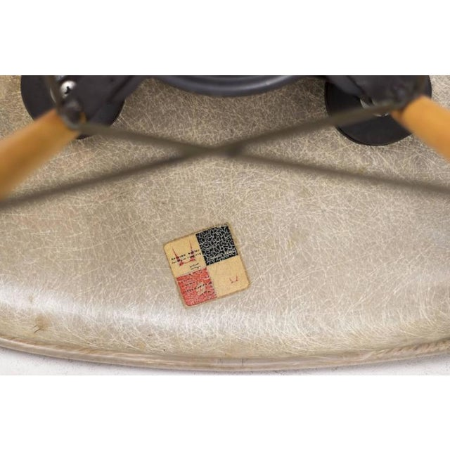 1950s Charles Eames PAW Rope Edge Dowel Leg Swivel Chair For Sale - Image 5 of 7