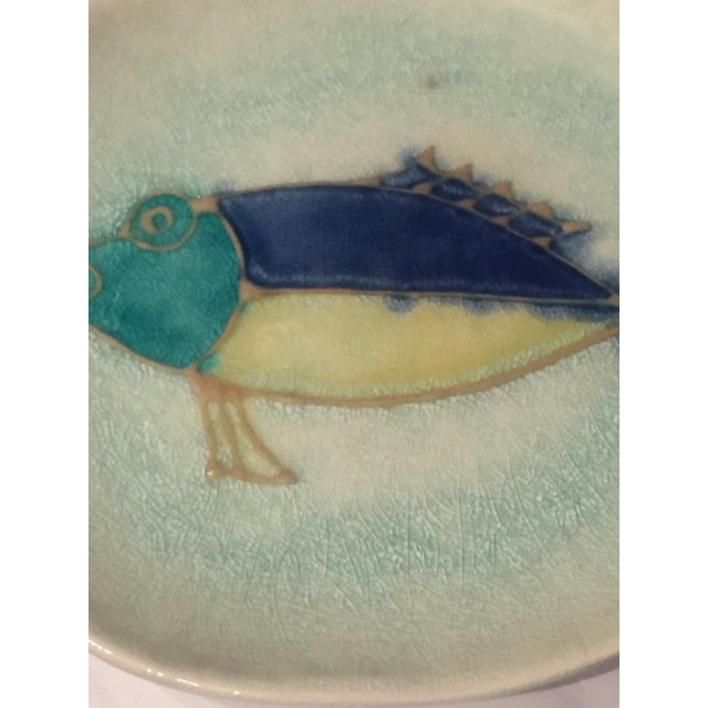 Mid-Century Modern Handmade Ceramic Fish Decorative Dish - Image 3 of 5
