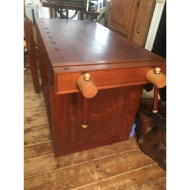 Custom Hand Built Work Bench by Swiss Craftsman Andrew Sykes For Sale - Image 9 of 12