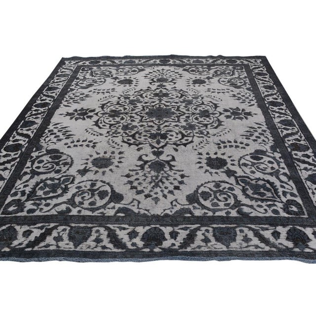 Burjusta Color Reform Frederic Gray/Gray Wool Rug - 9'3 X 11'9 A9431 For Sale In New York - Image 6 of 7
