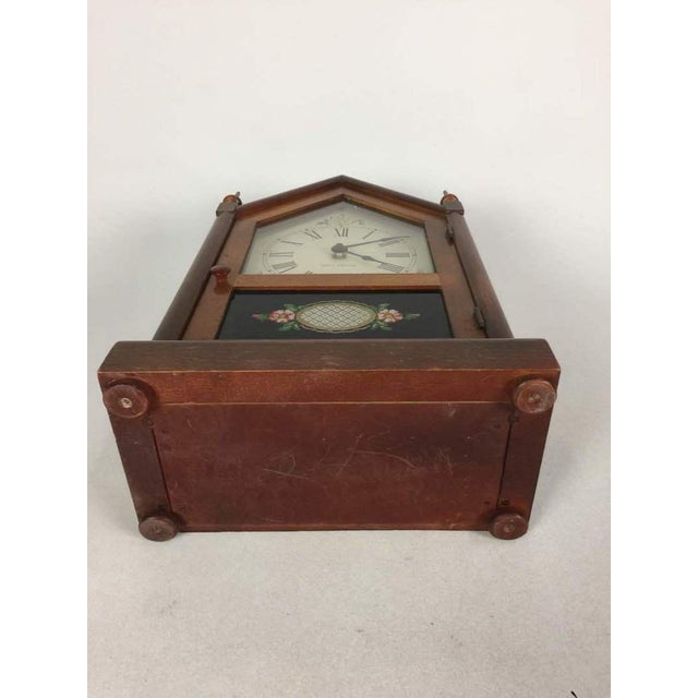 Vintage Seth Thomas Gothic Cottage Steeple Clock For Sale - Image 5 of 7
