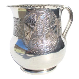 Mexican Silver Pitcher by J Vigueras For Sale