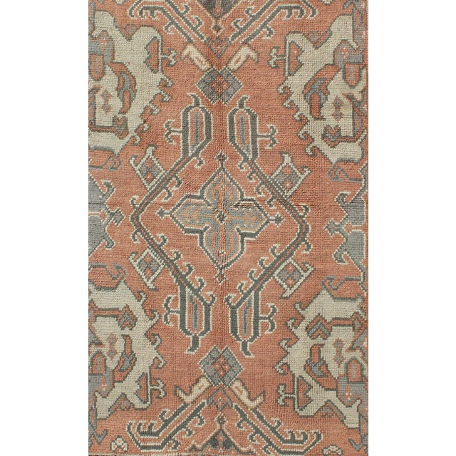 Turkish Keivan Woven Arts, F-0912, Early 20th Century Antique Turkish Oushak Rug - 5′3″ × 7′10″ For Sale - Image 3 of 8