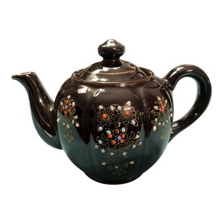 1940s Vintage Moriage Redware Teapot From Japan For Sale