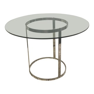 Milo Baughman for d.i.a. Glass Top Chrome Table For Sale