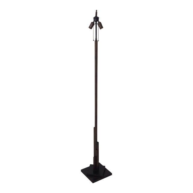 1940's Bronze Finish Tall Floor Lamp - Image 1 of 10