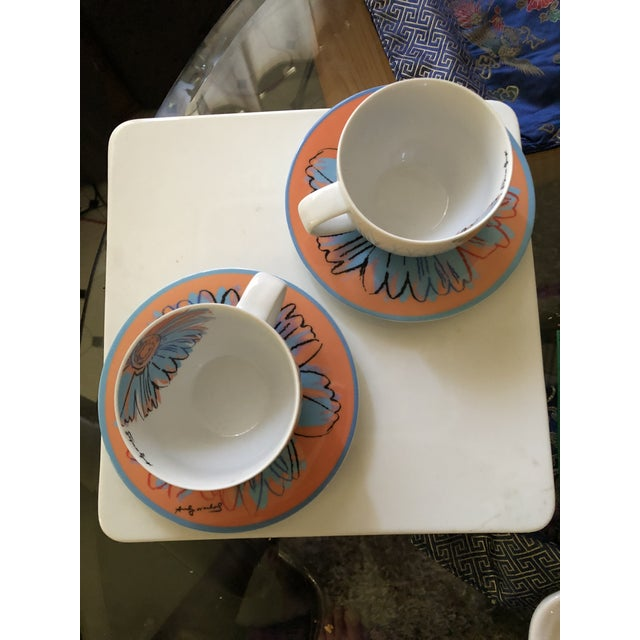 Pop Art Andy Warhol for Rosenthal Studio Line Daisy Tea Cup and Saucer Set For Sale - Image 3 of 6