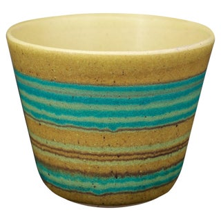 Fong Chow for Glidden Green Mesa Artware Stoneware Vessel Vase Cup For Sale