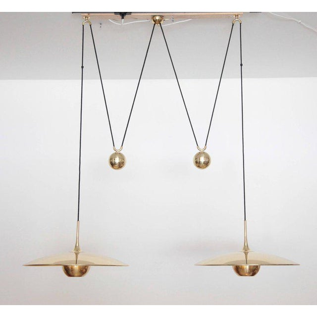 Brass Florian Schulz Double Onos 55 Pendant Lamp with Side Counter Weights For Sale - Image 7 of 7