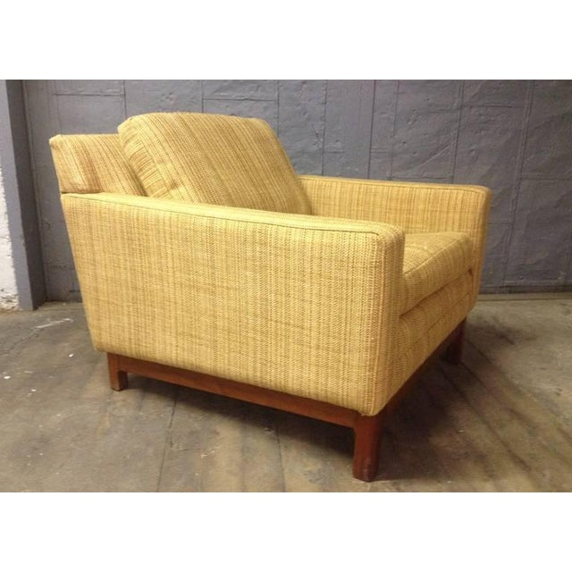 Jens Risom Lounge Chair with Solid Walnut Base.