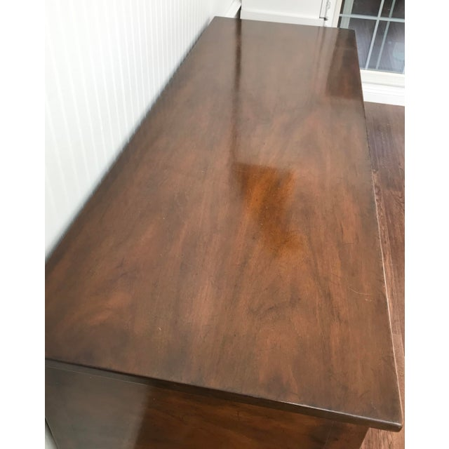 Metal 1950s Kittinger Colonial Williamsburg Mahogany Hepplewhite Sideboard For Sale - Image 7 of 13