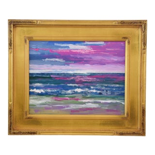 Vibrant Ventura California Impressionist Seascape Painting by Juan Guzman For Sale