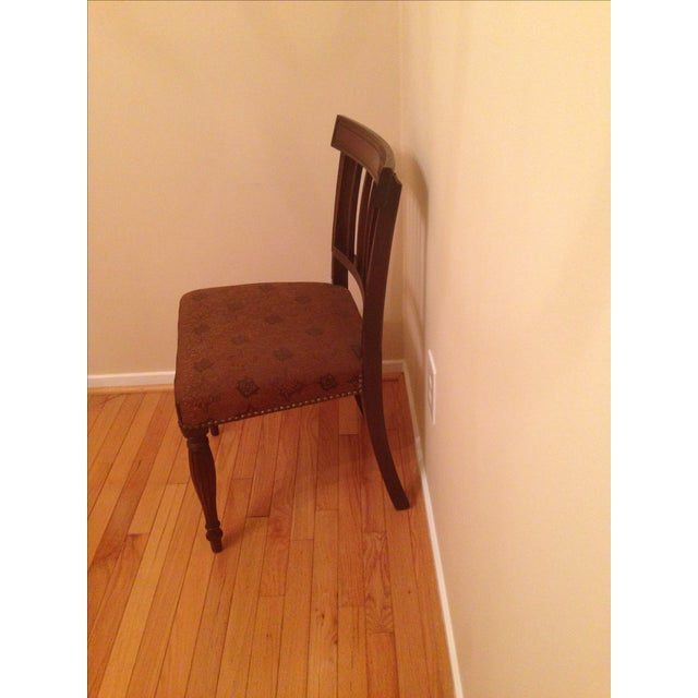 Cherry Wood Side Chairs - A Pair For Sale - Image 5 of 8