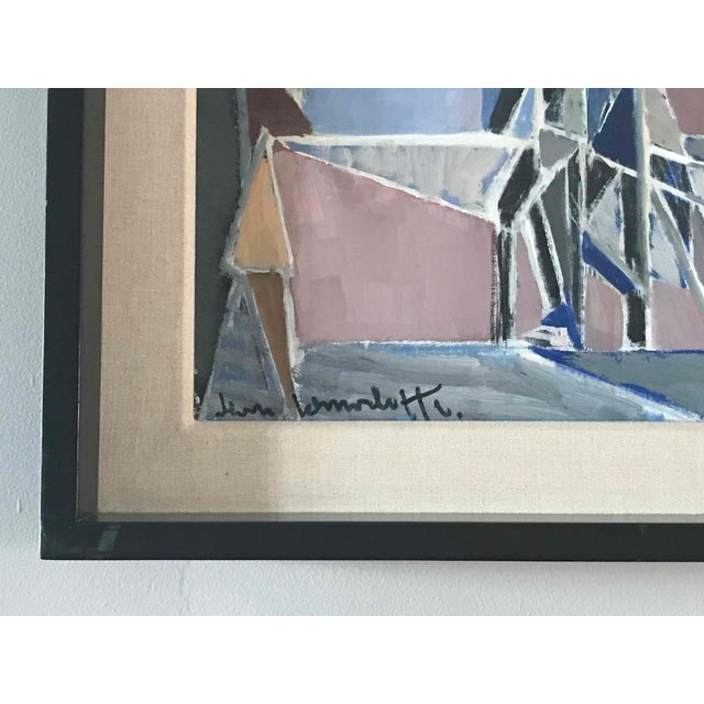 """1960s Oil Painting on Canvas Titled """"Paris Boulevard by Night"""" by Jean Lamorlette For Sale - Image 5 of 8"""