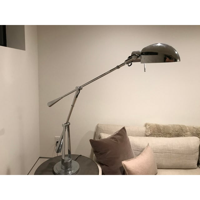 2010s Equilibrium Table Lamp ,Raplh Lauren Polished Nickel For Sale - Image 5 of 7