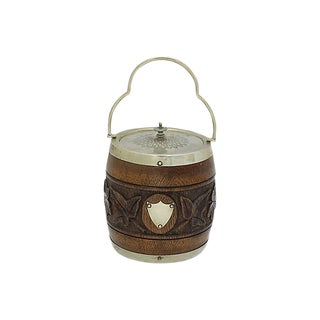 Antique English Carved Ice Bucket For Sale