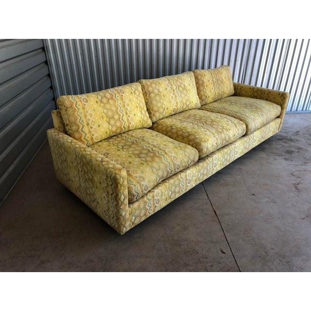 Mid-Century Modern Milo Baughman for Thayer Coggin Woven Jacquard Sofa For Sale - Image 3 of 8