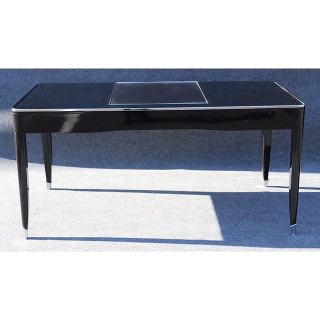 Black Ralph Lauren One Fifth Paris Bureau Plat Writing Table Desk For Sale - Image 9 of 11