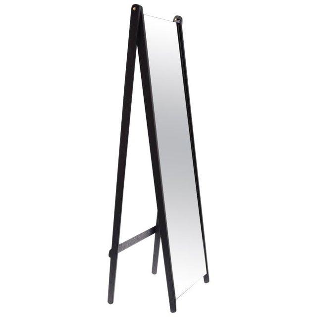 Asa Pingree Libertine Full Length Mirror in Ebonized Oak For Sale - Image 9 of 9