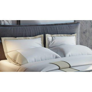 Monte Carlo Banded Pillowcases Standard - Pumice Preview