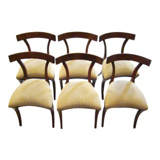 1950s Vintage Art Deco Dining Chairs- Set of 6 For Sale