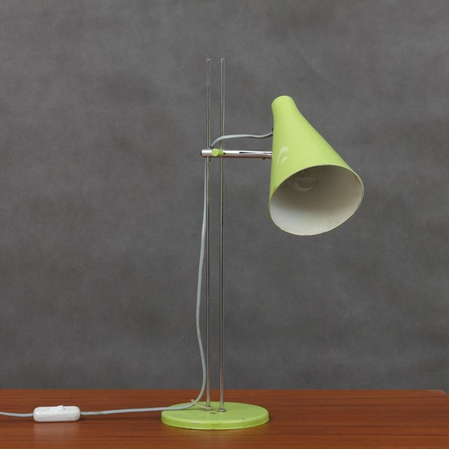 Mid-Century Modern Josef Hurka Lidokov L194 Green Desk Lamp For Sale - Image 3 of 8
